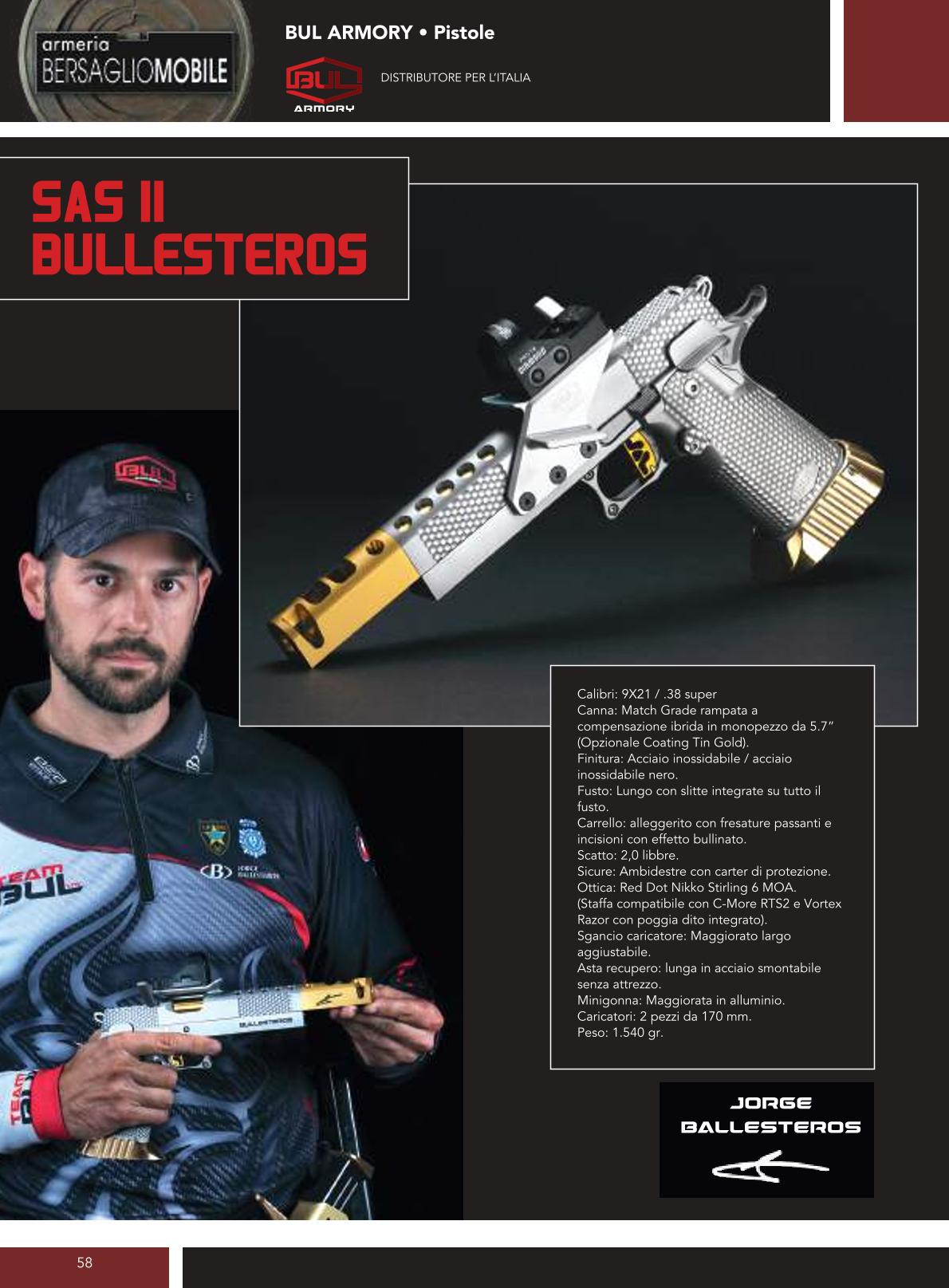 Bul Armory - Sas II Bullesteros - Armeria Bersaglio Mobile