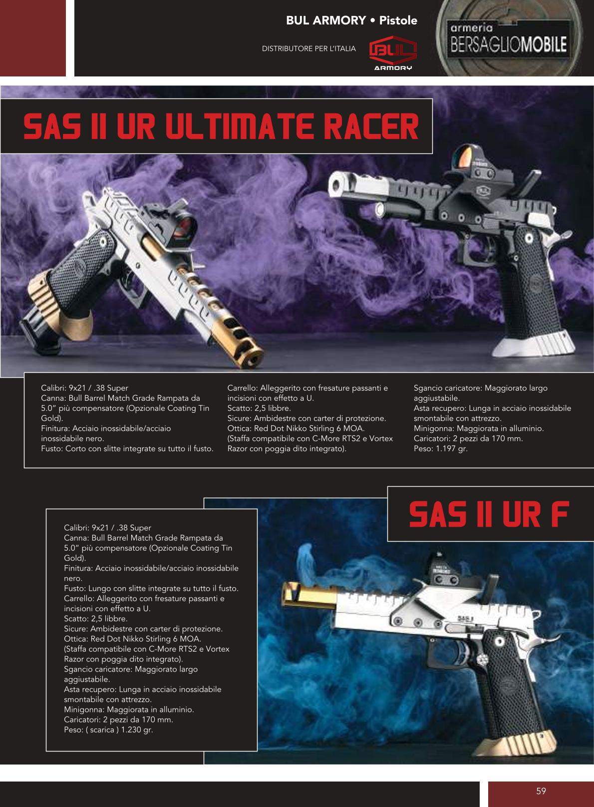 Bul Armory - Sas II UR Ultimate Racer - Sas II UR F - Armeria Bersaglio Mobile