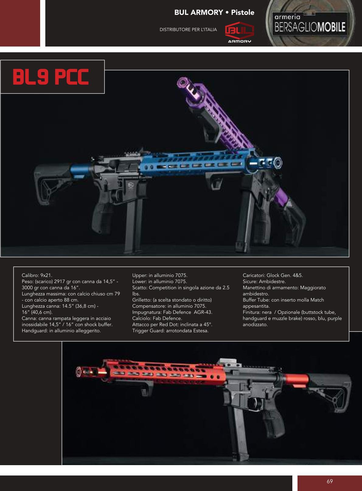 Bul Armory - BL9 PCC - Armeria Bersaglio Mobile