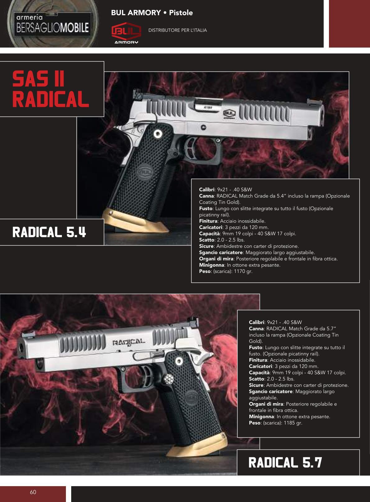 Bul Armory - Sas II Radical - Armeria Bersaglio Mobile