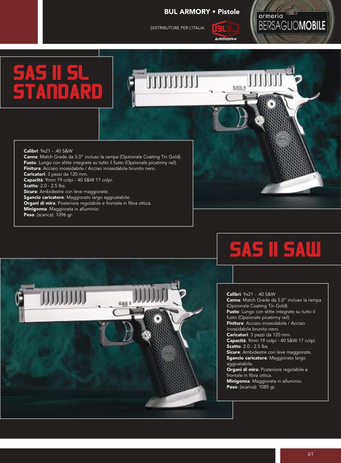 Bul Armory - Sas II SL Standard - Sas II Saw - Armeria Bersaglio Mobile