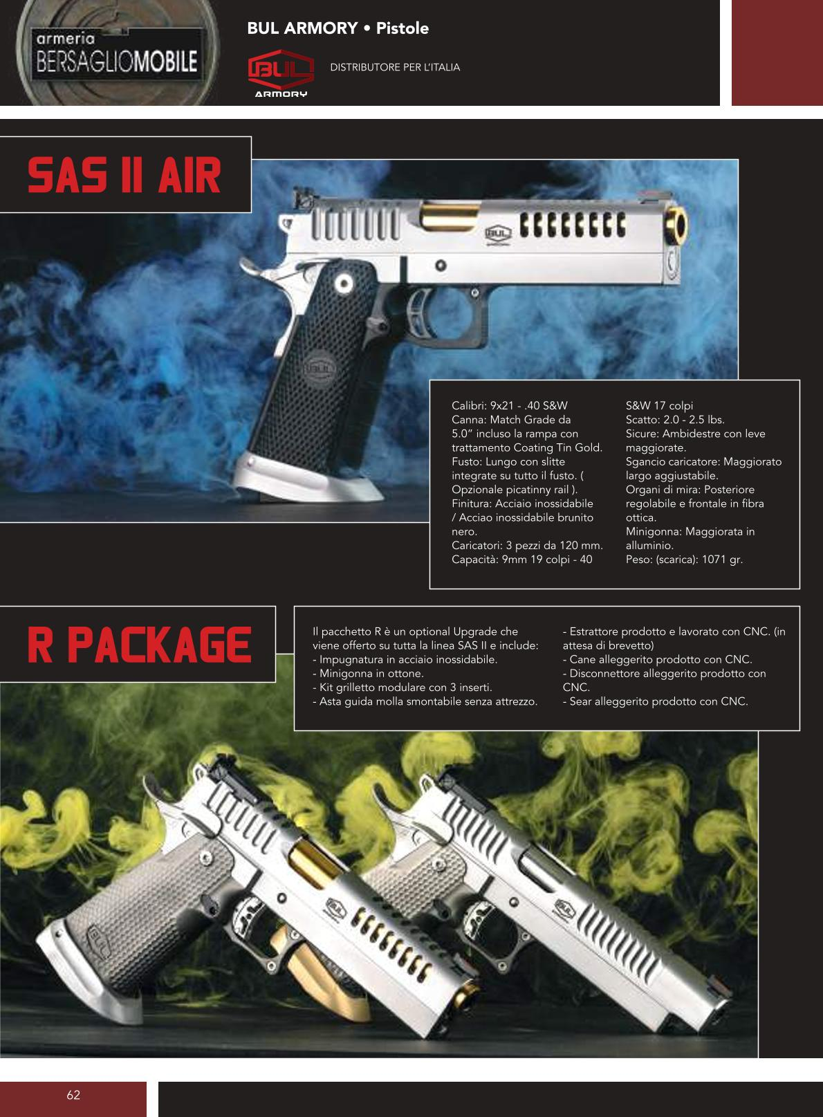 Bul Armory - Sas II Air - R Package - Armeria Bersaglio Mobile